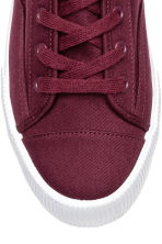 Platform trainers - Burgundy - Ladies | H&M 3